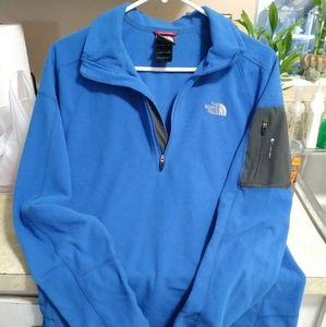 Men's Blue North Face Pullover Sweater